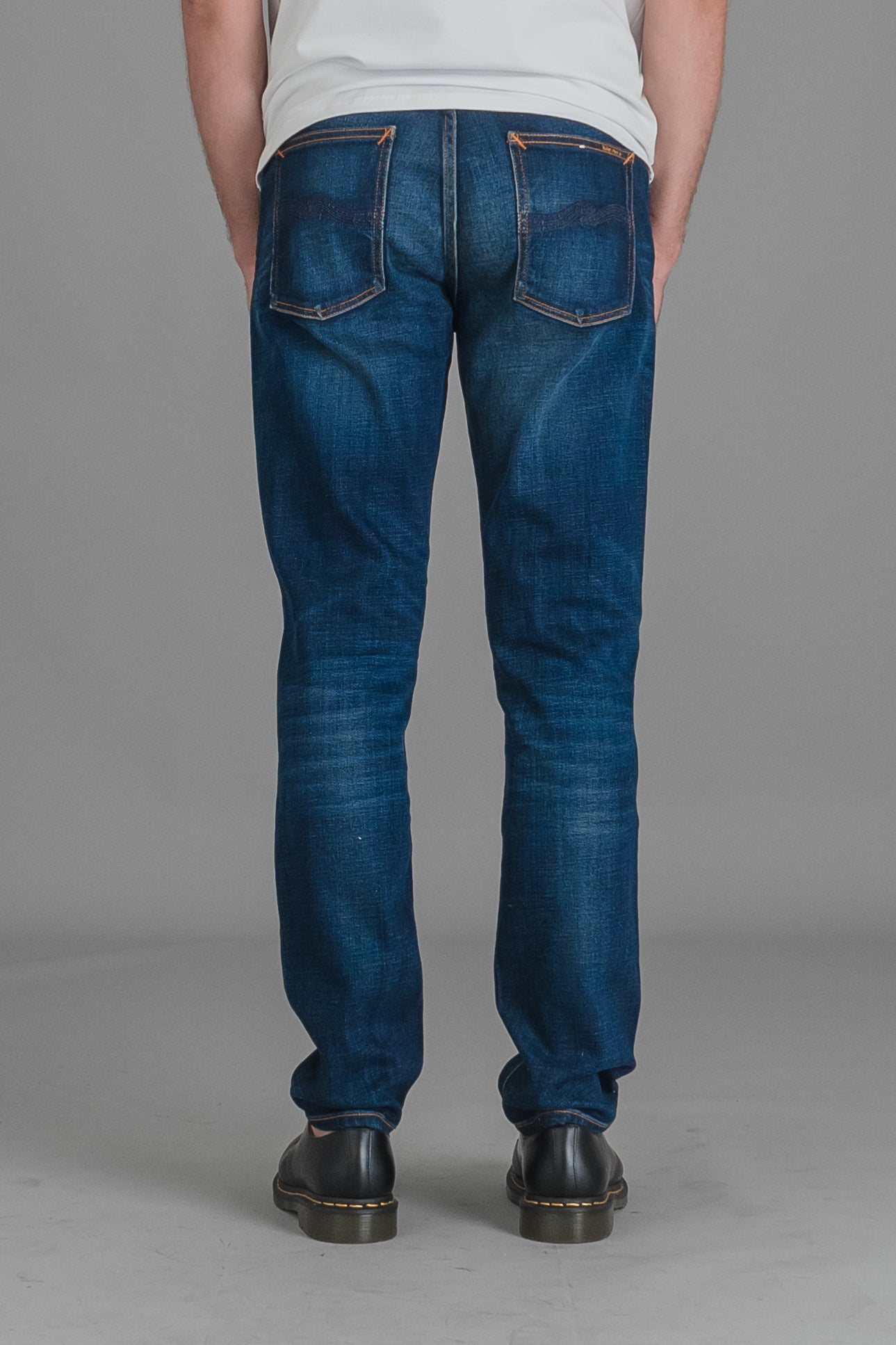 Nudie Lean Dean farkut - dark deep worn wash | INCH webshop