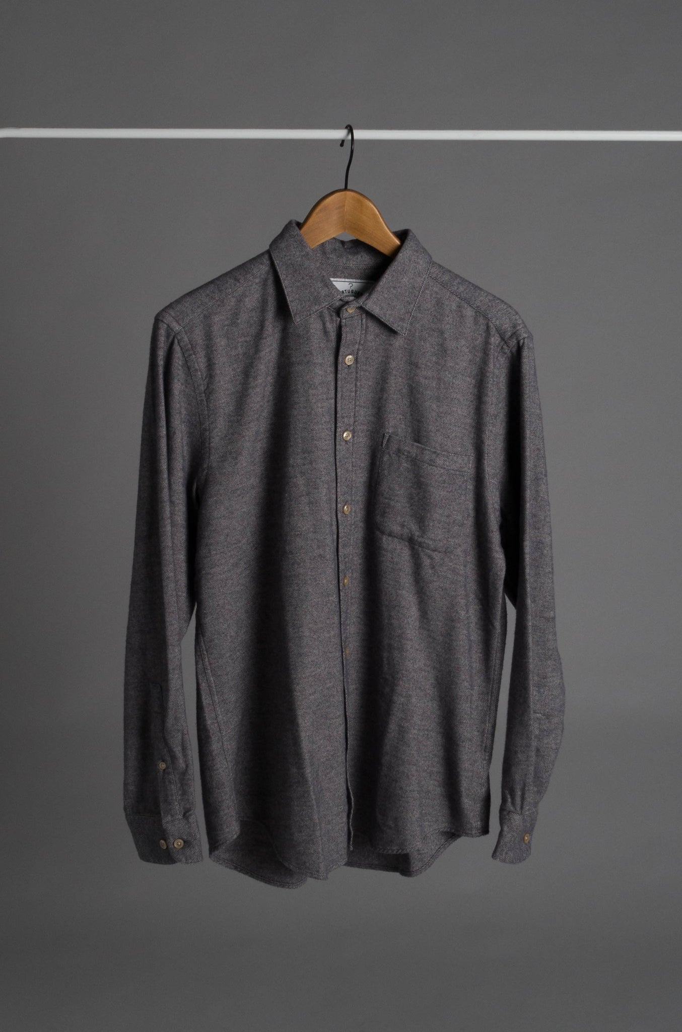 Portuguese Flannel Teca kauluspaita - Light grey