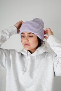 Colorful Standard merino wool hat - soft lavender