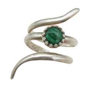 Sterling and Malachite Ring. Sacred Spiral Collection. assorted sizes