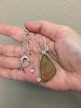 Load image into Gallery viewer, handmade druzy quartz pendant