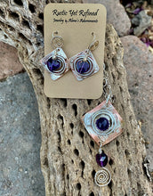 Load image into Gallery viewer, amethyst pendant shown with matching earrings