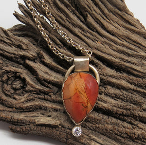 handmade in Arizona sterling jasper pendant