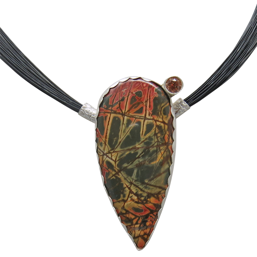 red creek jasper handmade pendant