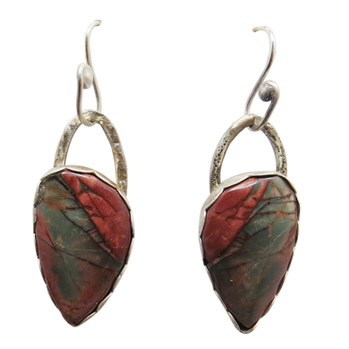 red creek jasper sterling earrings