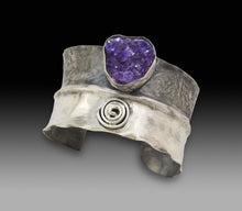 Load image into Gallery viewer, one of a kind amethyst geode cuff