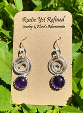 Load image into Gallery viewer, textured amethyst earrings