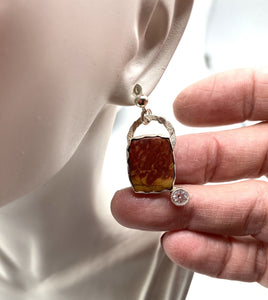 jasper earring shown on lobe