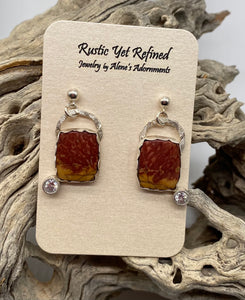 jasper earrings shown on card