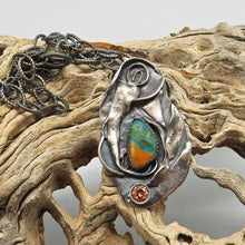 Load image into Gallery viewer, handmade in Arizona sterling pendant