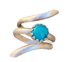 Load image into Gallery viewer, natural turquoise gemstone ring