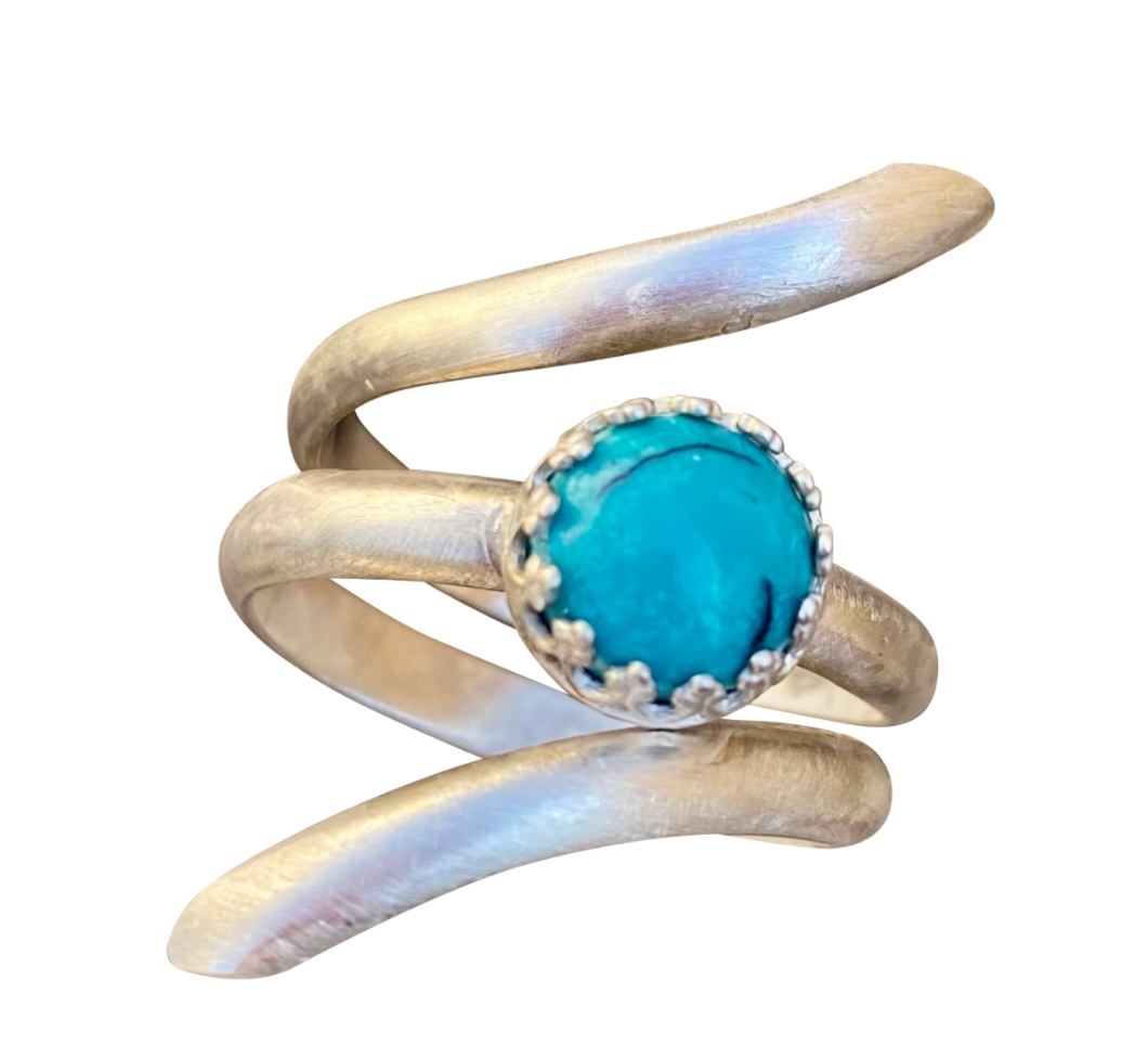 natural turquoise gemstone ring