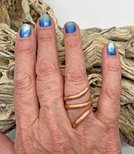 Load image into Gallery viewer, Pure Copper Ring. Sacred Spiral Collection. assorted sizes