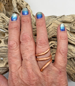 Pure Copper Ring. Sacred Spiral Collection. assorted sizes