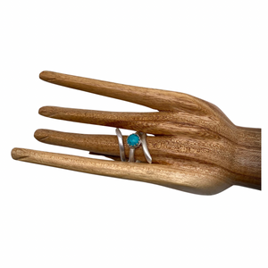 natural turquoise ring shown on hand