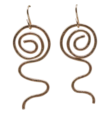gold fill earrings sacred spiral