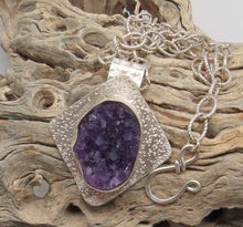 Load image into Gallery viewer, February birthday jewelry. handmade in Arizona jewelry. artisan jewelry. rustic designs