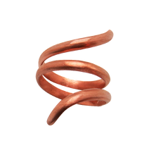 Load image into Gallery viewer, artisan copper jewelry. Spiral ring
