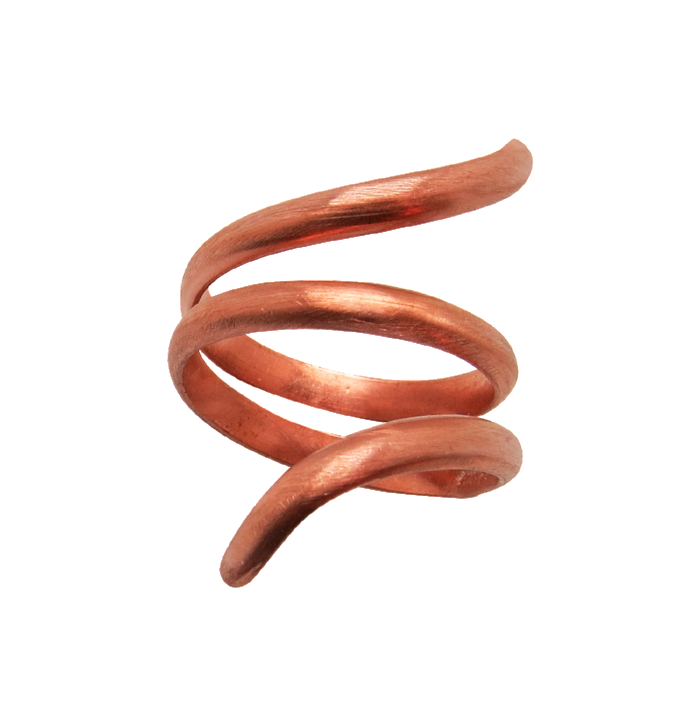 artisan copper jewelry. Spiral ring