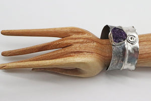 cuff in sterling shown on wrist
