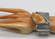 Load image into Gallery viewer, druzy quartz cuff shown on wrist