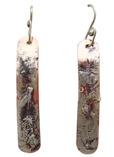 "Load image into Gallery viewer, Copper & Sterling Skinny Earrings 2 1/4"" long. Dare to Dream Collection"