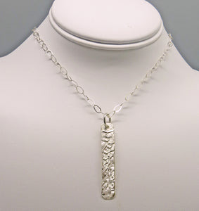 "Sterling Silver skinny Pendant. Dare to Dream Collection. 2"" tall"