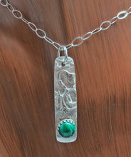 Load image into Gallery viewer, handmade sterling pendant with green malachite gemstone