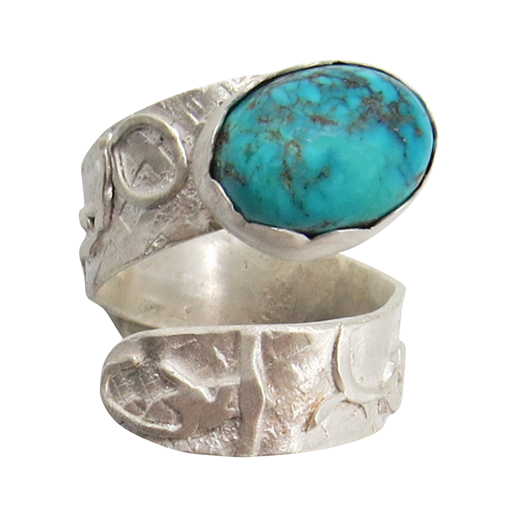 Turquoise & Sterling silver. Dare to Dream Collection Size 6 1/2 adjustable to 7 1/2