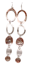 Load image into Gallery viewer, coper and sterling super long earrings handmade in Arizona