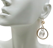 Load image into Gallery viewer, gold fill earrings shown on bust
