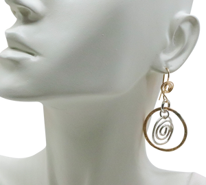 gold fill earrings shown on bust