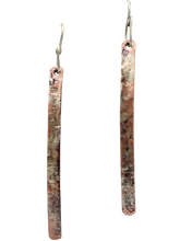 Load image into Gallery viewer, super skinny copper and sterling earrings