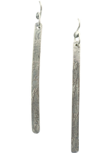 Load image into Gallery viewer, super skinny sterling silver earrings handmade in Arizona
