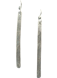 super skinny sterling silver earrings handmade in Arizona