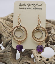 Load image into Gallery viewer, gold earrings shown on card