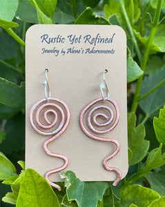 copper and sterling earring