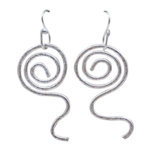 Load image into Gallery viewer, textured fine silver earrings