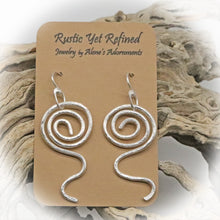 Load image into Gallery viewer, sacred spiral earrings shown on romance card