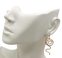 Load image into Gallery viewer, gold fill earring shown on the earlobe