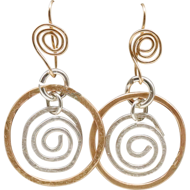 sacred spiral gold fill earrings