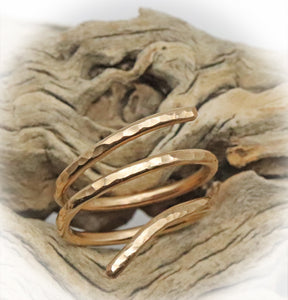 Gold  Fill Ring. Sacred Spiral Collection. Assorted Sizes