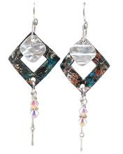 Load image into Gallery viewer, Marilyn Earrings.  Copper, sterling & Swarovski crystal