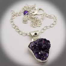 Load image into Gallery viewer, amethyst geode pendant. artisan jewelry