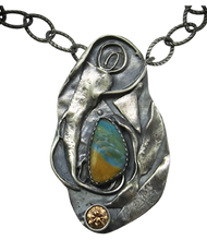 Load image into Gallery viewer, sterling pendant with peruvian opal gemstone