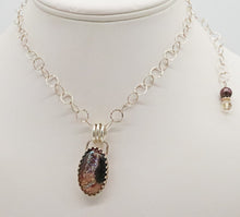 Load image into Gallery viewer, handmade in Arizona druzy pendant in deep browns