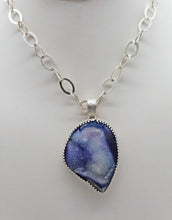 Load image into Gallery viewer, Ocean Waves Druzy Quartz  Pendant.