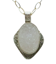 Load image into Gallery viewer, druzy quartz white pendant