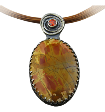 red creek jasper artisan pendant