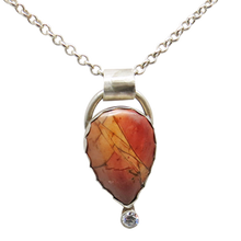Load image into Gallery viewer, sterling pendant with red creek jasper gemstone